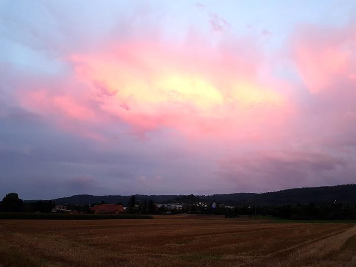 Ziemlich rote Wolke