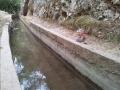 Open-Air Wasserleitung bei Epta Piges